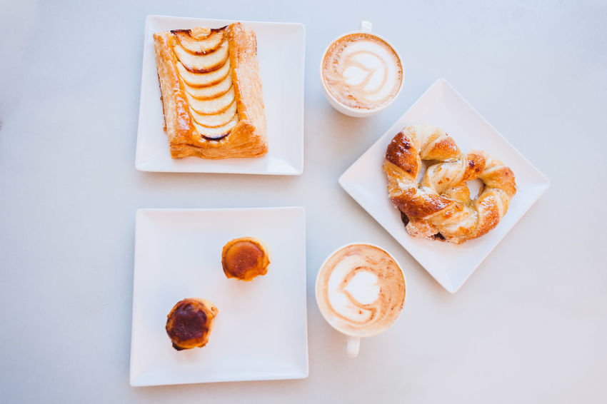 Breakfast Cafe Cafe Latte Close-up Coffee Coffee And Sweets Coffee Cup Coffee Shop Coffee Time Europe Food Freshness Froth Art Frothy Drink Indulgence Latte Latteart Pastry Plate Ready-to-eat Refreshment SPAIN Still Life Sweet Food Temptation