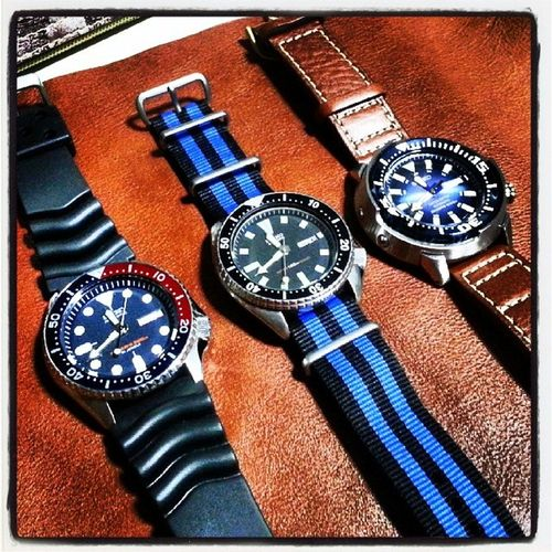 My Seiko Diver Watches so far.. Skx009j skx009 6309 srp453k1 ... they are finally reunited!!!