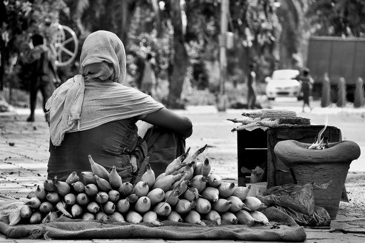 Only Women One Woman Only One Person Small Business Healthy Eating Asian Style Conical Hat Healthy Lifestyle Farmer Day Canonphotography Canon18-135 Canon80d EyeEm Gallery RainyDays🌁 Canon Eos  B&w Street Photography The Week On EyeEm