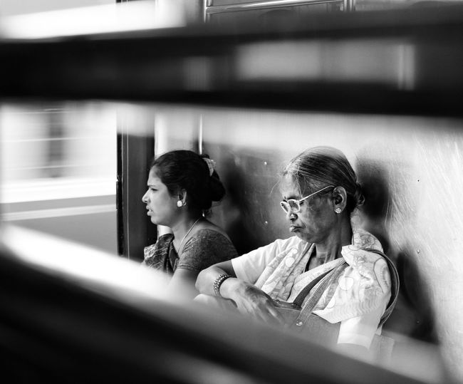 Two People Adult People Sitting Only Women Close-up Day Trains_worldwide Trainphotography Indiapictures Trains Localtrains Train Window Mumbailife Mumbailocal The Week On EyeEm