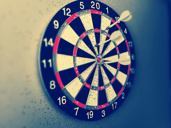 Close up of dartboard