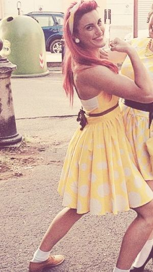 Pinup Yellow Pois Redhead 50sPinUp Italian Italiangirl Me Fitnessgirl Wecandoit