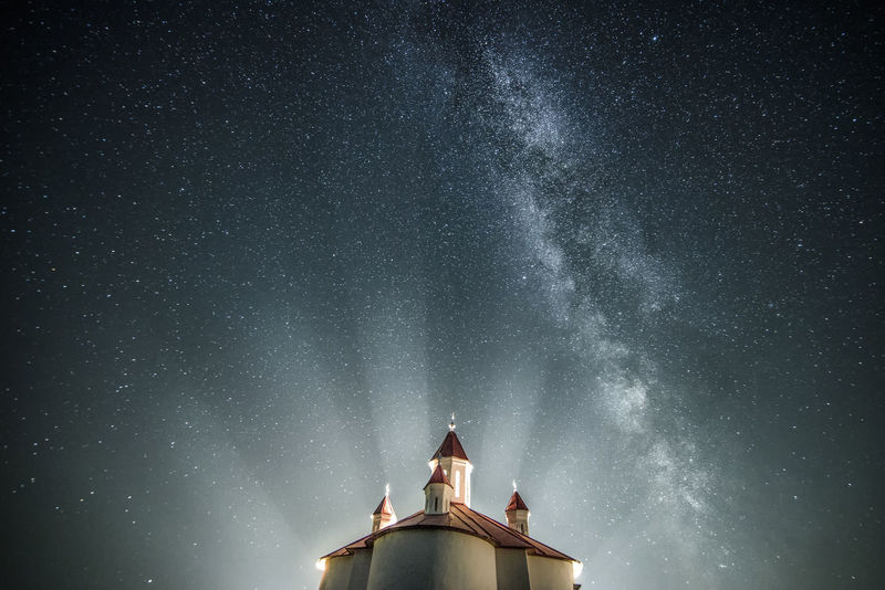 Milkyway above the chapel Astronomy Chapel Church Dark EyeEm Best Edits EyeEm Best Shots EyeEm Gallery Found On The Roll Illuminated Light And Shadow Milkyway Nature Nature Photography Nature_collection Night Night Lights Night Sky Night View Nightphotography Nightshot No People Outdoors Stars Starscape Temple Live For The Story