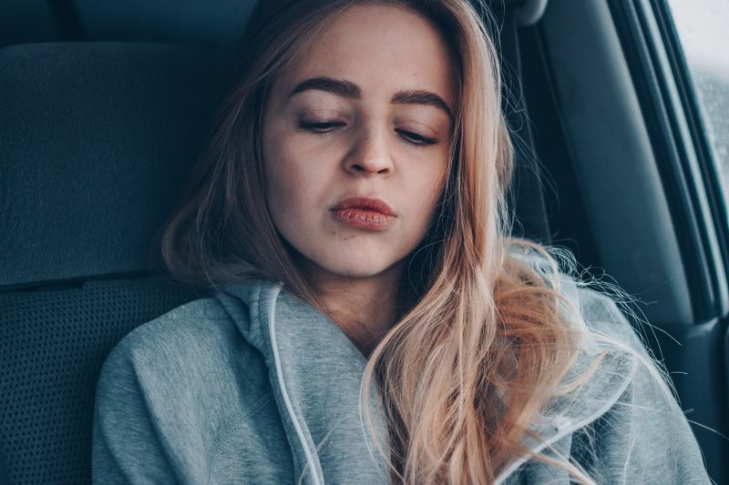 29 мая. yesnomaybe EyeEm Selects Mode Of Transportation Car Motor Vehicle One Person Transportation Vehicle Interior Indoors  Travel Land Vehicle Eyes Closed  Beauty Car Interior Adult Real People Beautiful Woman Portrait Women Front View Young Adult Headshot