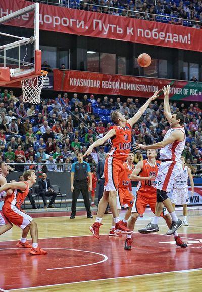 Motion Athlete Activity Vitality Real People Large Group Of People Professional Sport Sportsman Only Men Basketball Lokomotiv-kuban Eurocup