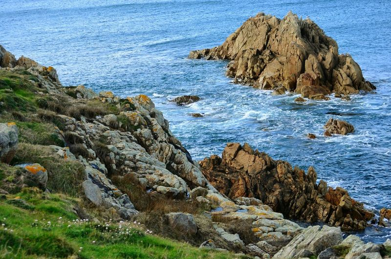 Top View Top Perspective Top Perspective Springtime Wildlife & Nature Coruña SPAIN Ocean Atlantic Atlantic Ocean Green Nature Waves Ocean View Oceanside Tourism Seascape Nature Water Sea Beach Rock - Object Grass Rocky Coastline Stack Rock Rock Cliff Coast Rock Formation Headland Seaweed