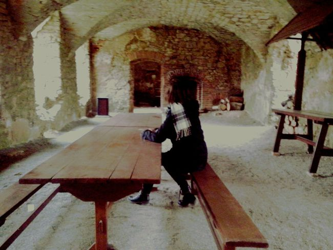 Indoors  Arch Architecture Built Structure One Person Day Real People Lifestyles Full Length Women Water Adult People Adults Only Poland Is Beautiful Poland Castle Castle Ruin Castle In The Poland Krzyżtopór Castle