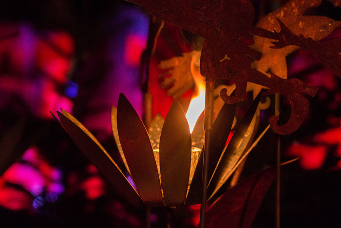 ArtWork Bokeheffect Candlelight Christmas Colorful Heidelberg Iron Light
