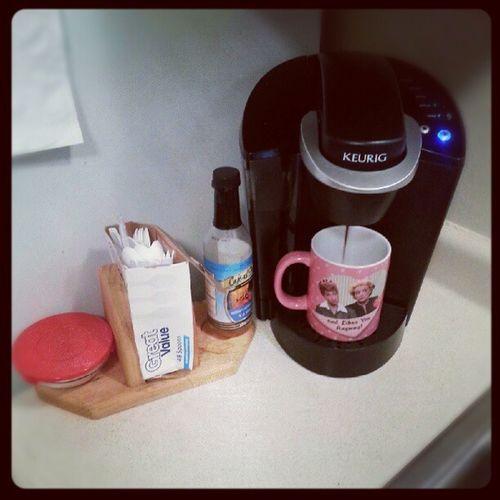 How I start my day:) Lovemykeurig Kcup Groversroast Coffee