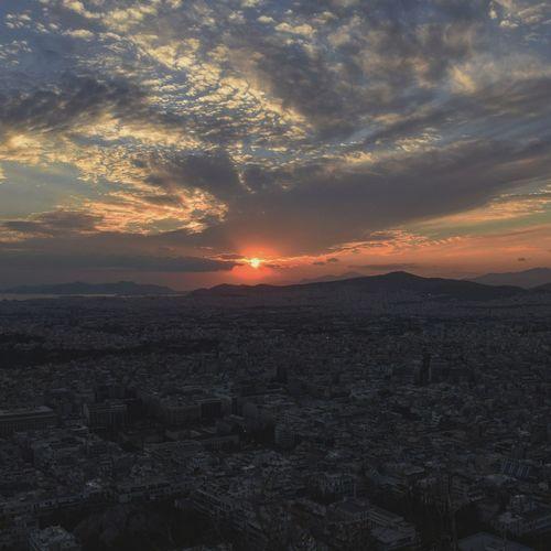Закат над Афинами. Афины Athens, Greece Athena Athens City Athenslove Athensview Sunset_collection Sunset Tranquility Amazing Sky Athen ♡
