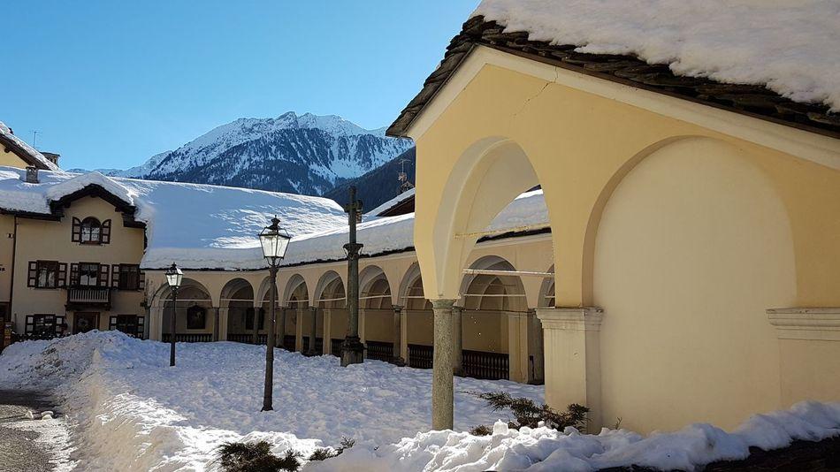 Snow Cold Temperature Winter Arch Architecture Mountain Frozen