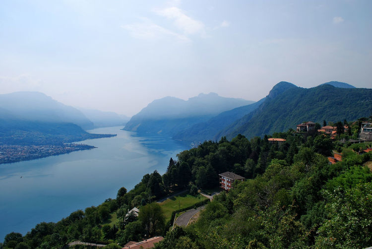 The eastern branch of Lake Como, from Civenna - Bellagio, Como, Italy. Beauty Beauty In Nature Bellagio Civenna Como Day Italia Italy Lake Lake Como Landscape Lario Lombardia Lombardy Mountain Mountain Range Nature No People Outdoors Scenics Tree