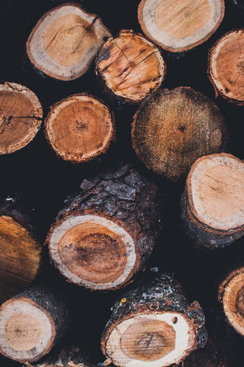Abundance Arrangement Backgrounds Close-up Day Full Frame Heap Large Group Of Objects Log No People Pile Stack Timber Wood - Material Woodpile