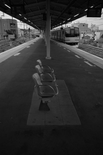 Bench Train Train Station Station Station Platform Transportation