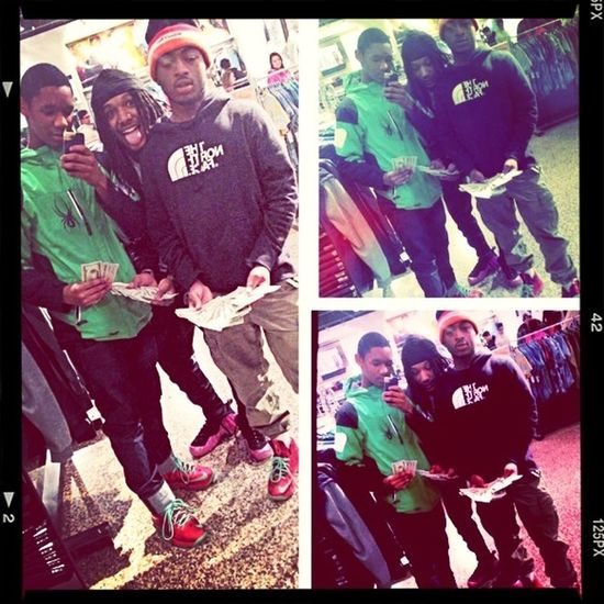 Me And My Bruvahs In The Mall Cashing Out