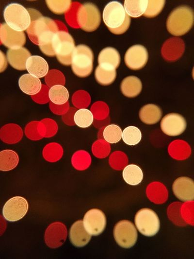 Defocused Image Of Colorful Lights