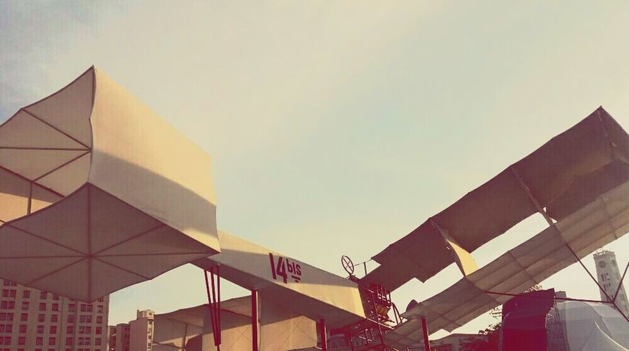 Dumont. Flying away now. Santos Dumont Airplane 14bis Modern Business Business Finance And Industry Architecture Building Exterior Built Structure First Eyeem Photo