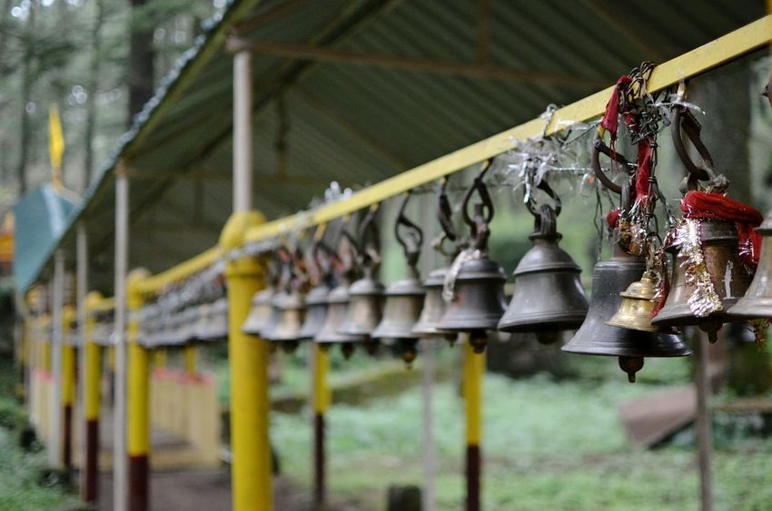 Faith Hinduism Hindu Temple Bells Hanging Bells Wishful Waytotemple Faith Devotion Sacred Sacred Places Eye4photography  Frommypointofview 35mm EyeEm Gallery Naturalsurroundings Taking Photos in Landscape Uttarakhand