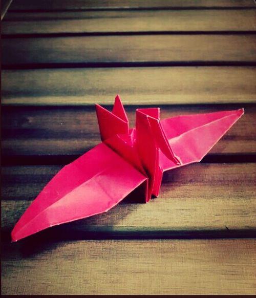 On Paper Origami Tsuru Japan