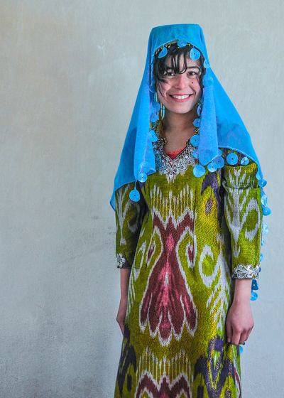 Central Asia Culture Ethnic Happiness Kyrgyzstan Looking At Camera One Person People Portrait Real People Smiling Toothy Smile Uzbek People Wedding