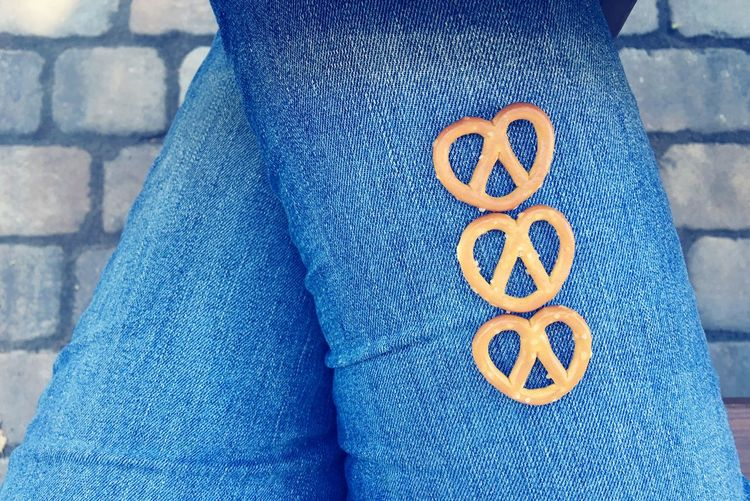 Pretzels Snack Time! MiniPretzel Snacks! Playwithyourfood Blue Jeans Jeans Scotts Valley California United States