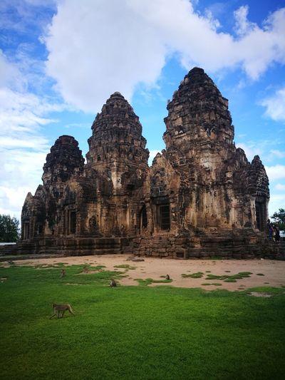 Phra Prang Sam Yod (Monkey Temple) Religion Architecture Spirituality Old Ruin Statue