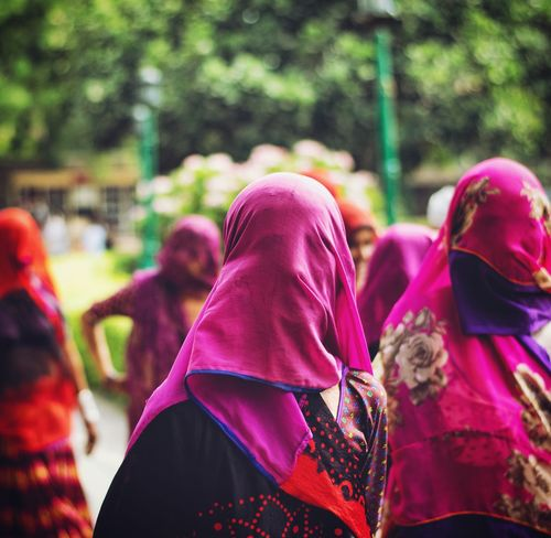 Faceless The Street Photographer - 2018 EyeEm Awards Low Section Women Togetherness Pink Color Close-up Traditional Festival Wearing Sari Traditional Clothing Indian Culture  Bangle