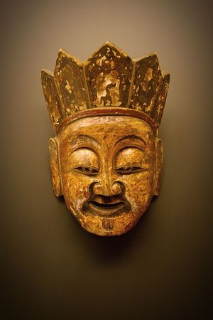 Gold Colored No People Mask China Chinese History Close-up Smiling Face Smiling