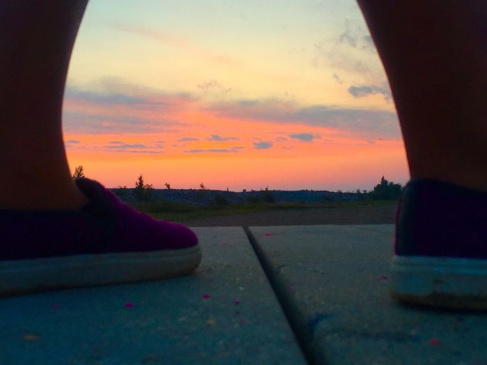 Sunset Cloud - Sky Beauty In Nature Outdoors Legs And Shoes On Table Top The Week On EyeEm EyeEmNewHere Perspectives On Nature