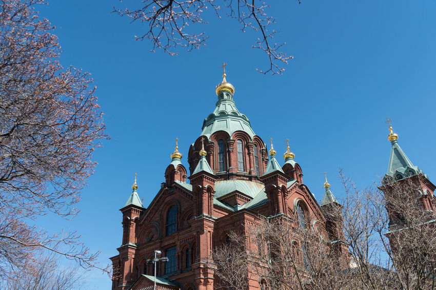Cathedral Finland Helsinki Scandinavia Architecture Blue Bluesky Building Day Nordic Outdoors Springtime