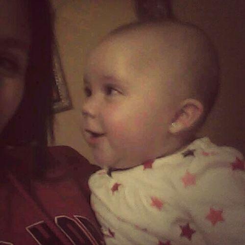 My baby Tiara smiling at me ♡.