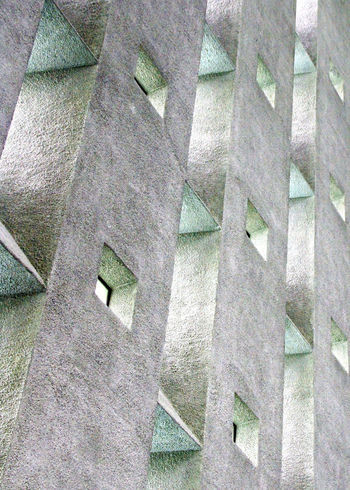 Abstract windows in Coventry Cathedral Abstract Architectural Feature Architecture Backgrounds Building Built Structure Close-up Coventry Cathedral - UK Day Design Detail Full Frame Geometric Shape Low Angle View Modern No People Outdoors Pattern Repetition My Favorite Photo My Favourite Photo Envision The Future The Architect - 2016 EyeEm Awards