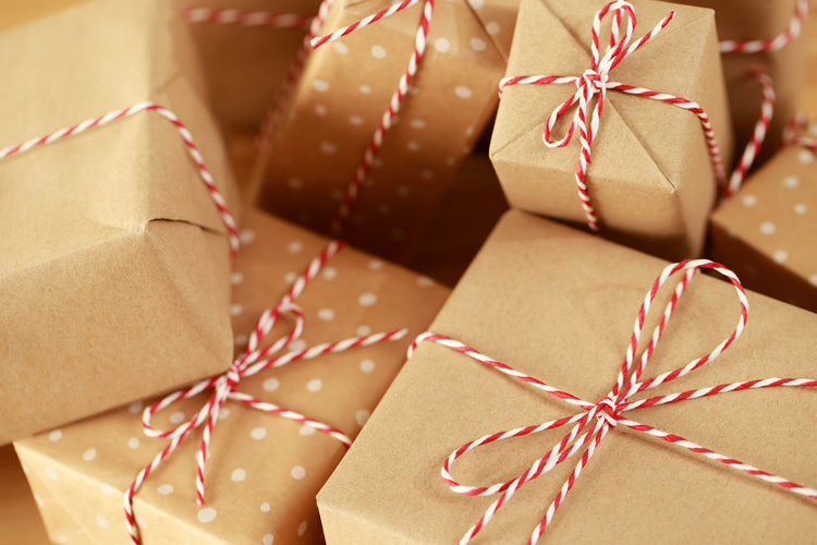 Close-up of christmas decoration in box