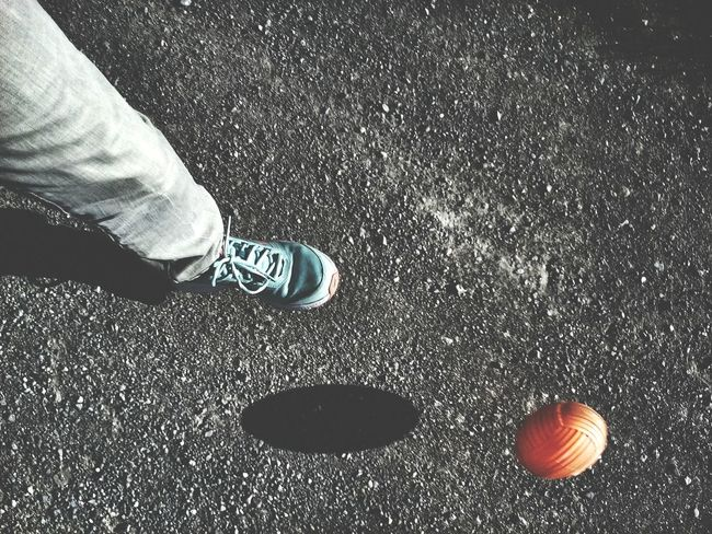 Orange Ball Sports Foot Up Close Street Photography Motion Deformation Kick Motion Action Showing Imperfection Shadow Elipse Rocky Ground Alternative Fitness Geometric Shapes Minimalism Football Fever