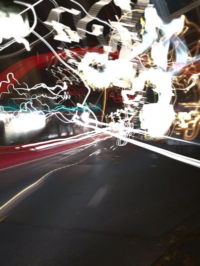 Licht malerei mal anders Transportation Road Car Land Vehicle Illuminated On The Move Mode Of Transport Motion Street Speed Light Trail The Way Forward City Travel Blurred Motion Night Tail Light City Street City Life Red