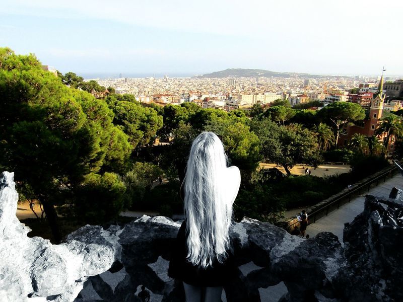 Blackandwhite Blackandwhitephotography Black&white Rapunzel's Tower Rapunzel Let Down Your Hair Myworld Coloring Longhairdontcare That's Me Relaxing Taking Photos Landscapephotography Fine Art Photography From My Point Of View Eyeemcollection Eye4photography  Above The City Takeapicture Stillife Newtalent SPAIN Barcelona Parkguell Lost In The Landscape