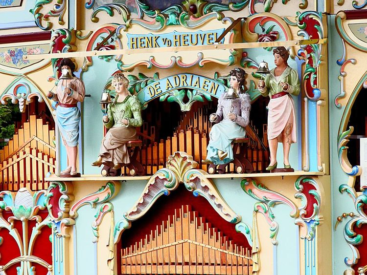 Barrel Organ Ornate No People Bas Relief Full Frame Day Architecture Close-up Low Angle View Multi Colored Building Exterior Outdoors