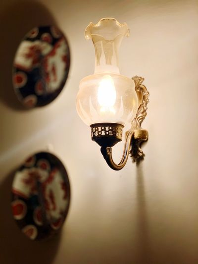 Wall lamp lit