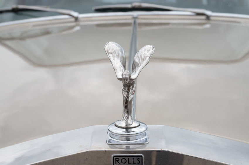 Beige Emily Rolls Royce Spirit Of Ecstasy Bonnet Bonnet Mascot Car Champagne Color Close-up Day High Angle View Hood Hood Ornament Indoors  No People Nusshain 09 17