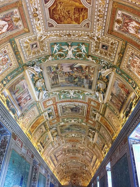Vanishing Point Architecture Ceiling Fresco History Tourism Travel Destinations Vatican Museum Rome