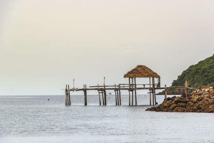 Talu island pier prachuap khiri khan, thailand
