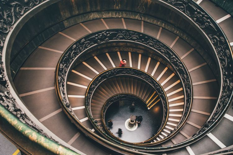Fibonacci sequence The Week on EyeEm EyeEmNewHere EyeEm Best Shots EyeEm Selects EyeEm Gallery EyeEm EyeEmBestPics EyeEm Masterclass Rome Vatican Museum Vatican VaticanCity Steps And Staircases Spiral Staircase Spiral Staircase Museum Spiral Steps High Angle View Spiral Stairs Staircase Stairs Railing