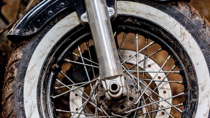 EyeEm Selects Harleydavidson Muddy Motorcycle Tire Transportation Mode Of Transport Wheel Land Vehicle Vehicle Part Stationary Close-up Outdoors Spoke Day No People