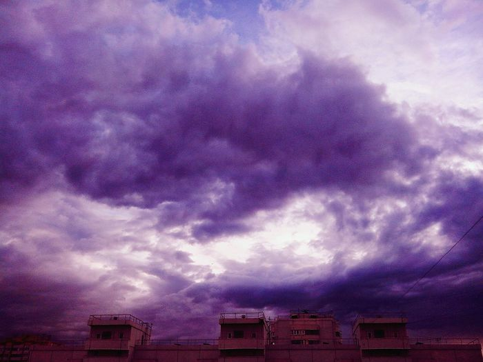 Stormy sky just the way I love it. Sky Skyporn Sky And Clouds Violet Evening Moscow Russia Violet By Motorola