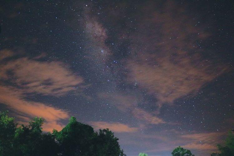 Galaxy milky way at night