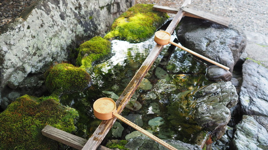 Water Bamboo - Material High Angle View Cultures Drinking Fountain