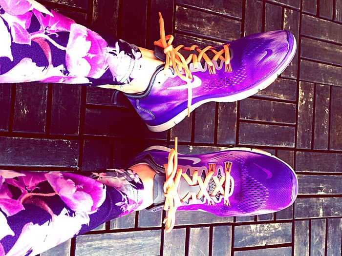 I l💜ve Nike Nike Sport Flowers Pourple Viola Followme Picoftheday Picture