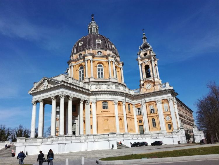 Superga (To) Architecture Baroque Style Building Exterior Built Structure Day Façade History Large Group Of People Low Angle View Men Outdoors People Place Of Worship Real People Religion Sky Spirituality Statue Tourism Travel Travel Destinations Vacations