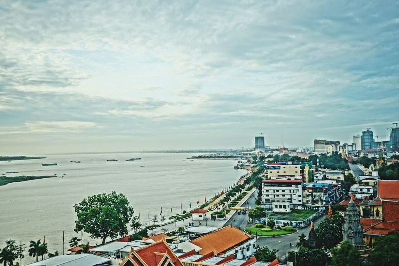 Phnom Penh Phnompenh Cambodia ASIA Meikong River Traveling Summer Trip River City Asian City Asian  Southeast Asia
