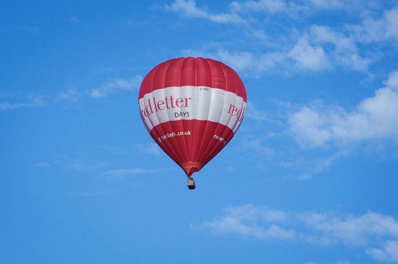 Hot Air Balloons Bristol Balloon Festival  2017 EyeEm Selects Red Hot Air Balloon Flight Summer Memories 🌄 White Clouds Blue Sky
